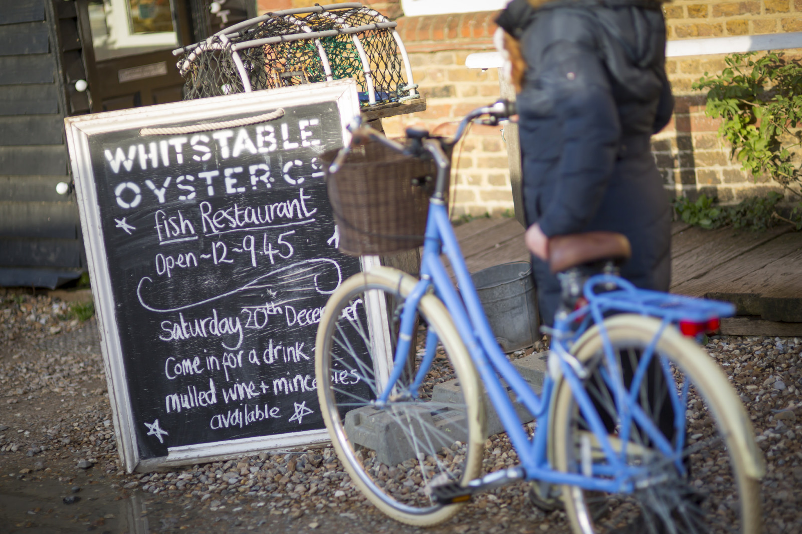 Bicycle by Whitstable restaurant